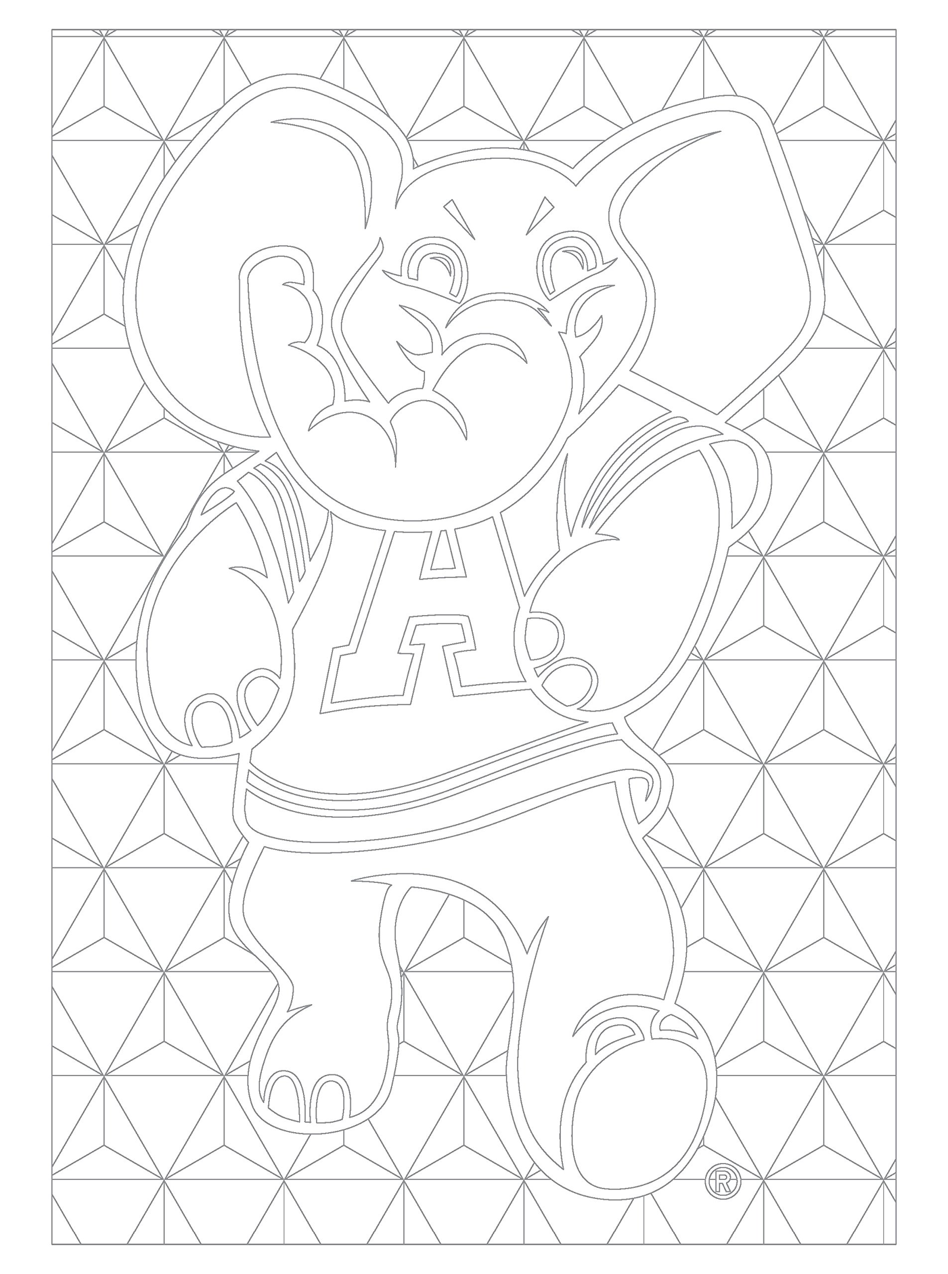 Alabama Adult Coloring Book: A Colorful Way to Cheer on Your ...