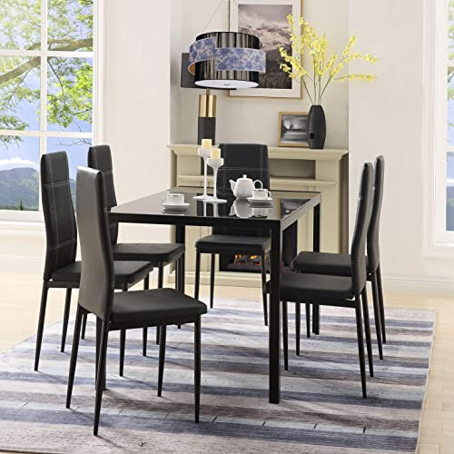 Henf 7 Pieces Dining Table Set