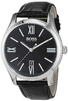 9e74a20c3e85 Amazon.com  Hugo Boss Men s 1513194 Black Stainless Steel Watch  Hugo Boss   Health   Personal Care