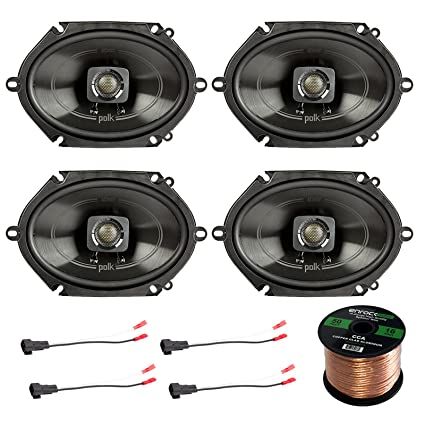 "4x Polk 5x7"" 225W 2-Way Car/Boat Coaxial Audio Marine Speakers,"