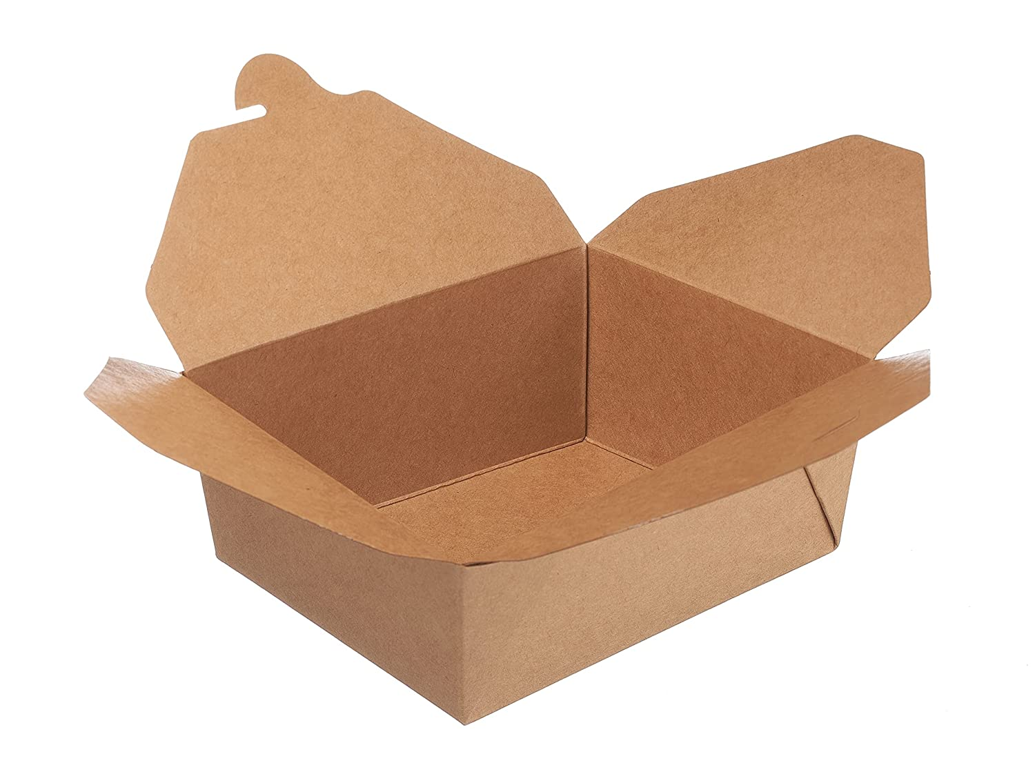 Take Out Food Containers 49 oz Kraft Brown Paper Take Out Boxes Microwaveable Leak and Grease Resistant Food Containers - To Go Containers for Restaurant, Catering, Food Truck - Recyclable Lunch Box #2 by EcoQuality (25)