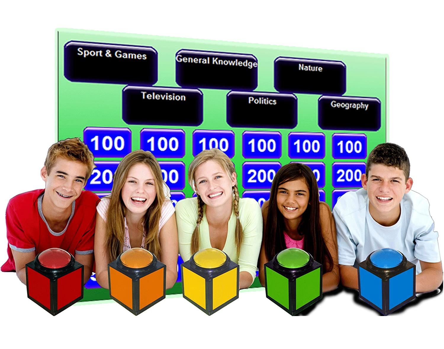 Digigames Inc Wireless Buzzer Quiz Buzzers For 5 Game Show Find Great Deals On Ebay Players Toys Games