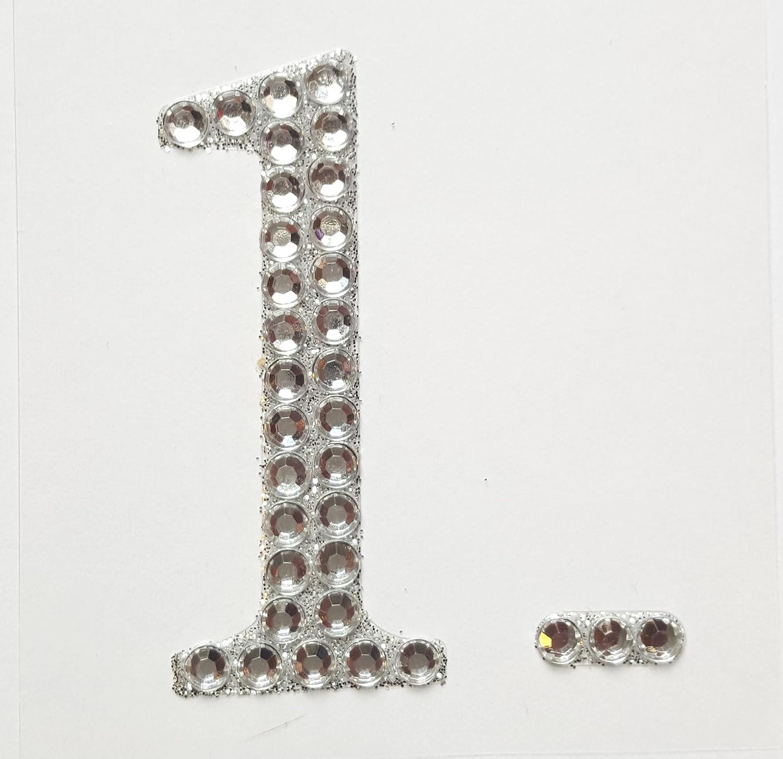 "LETTER L 2/"" 5cm Large Craft Diamante /& Silver Glitter Stick On Self Adhesive"