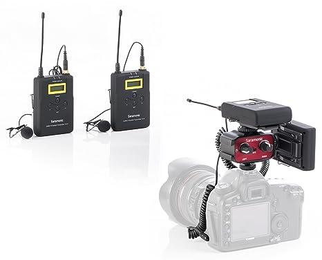 Saramonic 500 MHz inalámbrico de doble banda UHF lavalier ...
