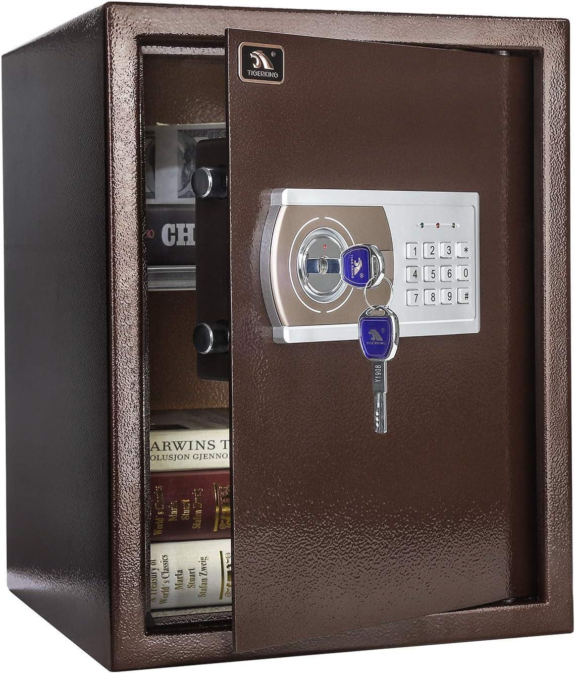 TIGERKING Security Digital Lock Box Safe Home Keypad Safe - 1.8 Cubic Feet