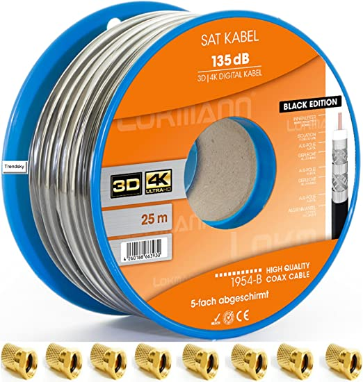 Cable de antena coaxial, cable de satélite para instalaciones DVB ...