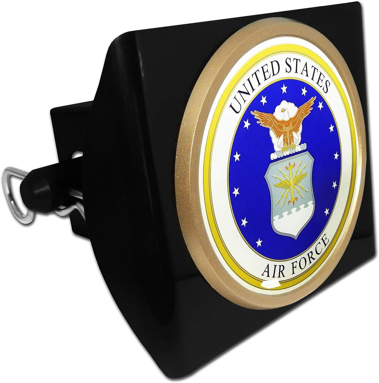 Elektroplate U.S Air Force Wings Chrome Metal Hitch Cover