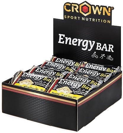 Crown Sport Nutrition 18 x Energy Bar (60g), Barritas de avena energéticas sin cobertura con extra de proteína para deportistas, Sabor de Banana ...