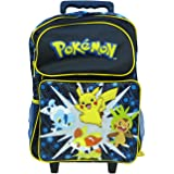 Grand trolley noir sac a dos POKEMON 40cm x 30cm primaire