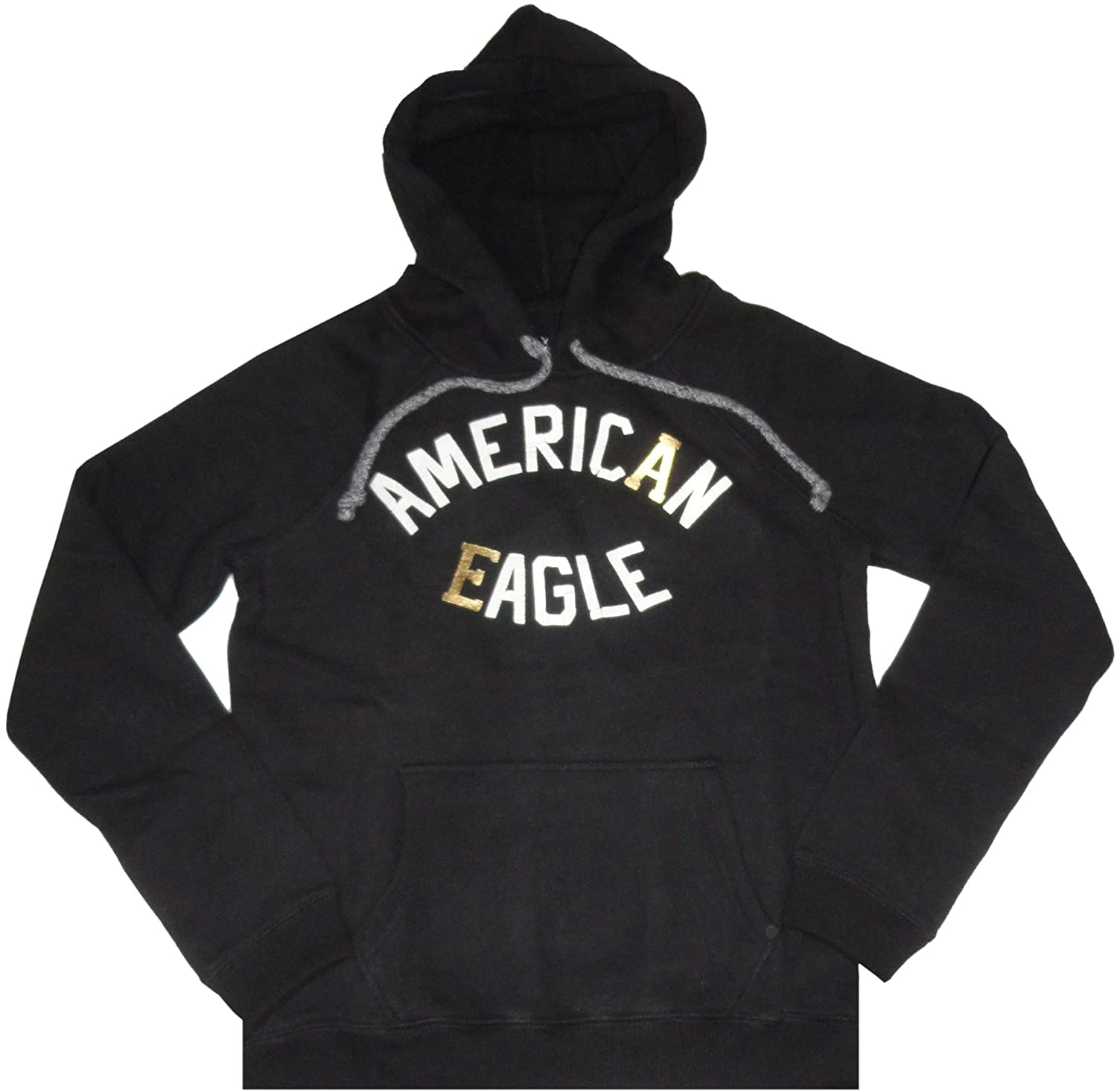 a58dc011 American Eagle Women's Hooded Sweat Jacket Hoodie Black (Small) at ...
