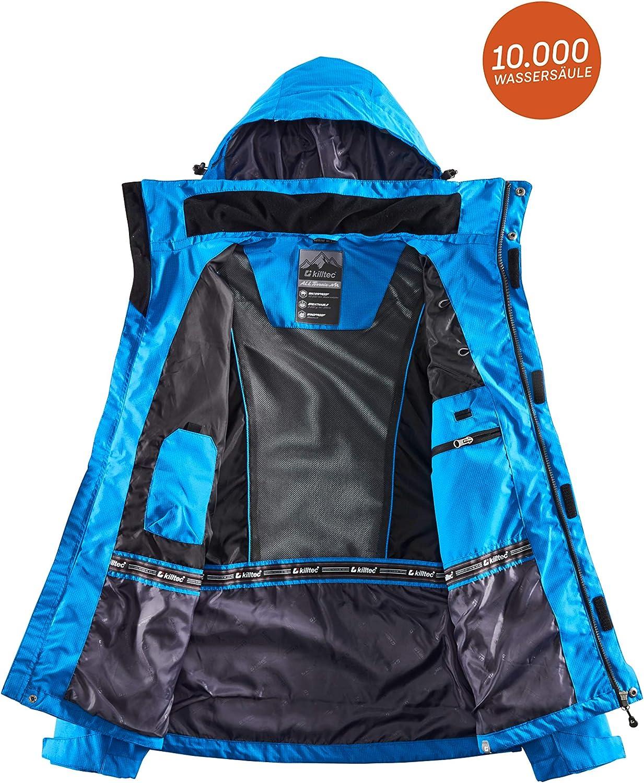 killtec Men's Xenios Functional Jacket with Zip-Off Hood Sky-Blue