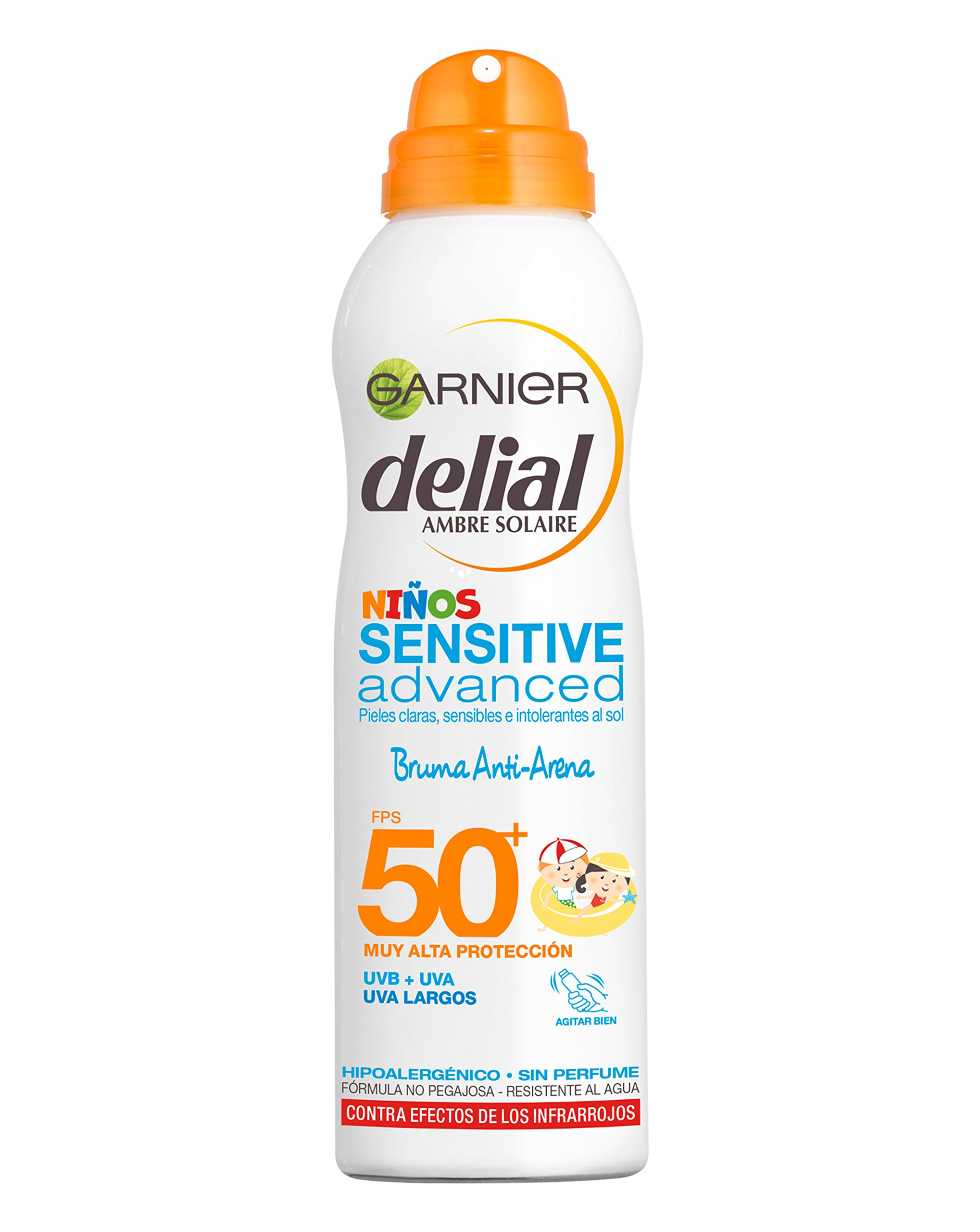 Garnier Delial Niños Sensitive Advanced Spray Protector Solar Antiarena para Pieles Claras, Sensibles e Intolerantes