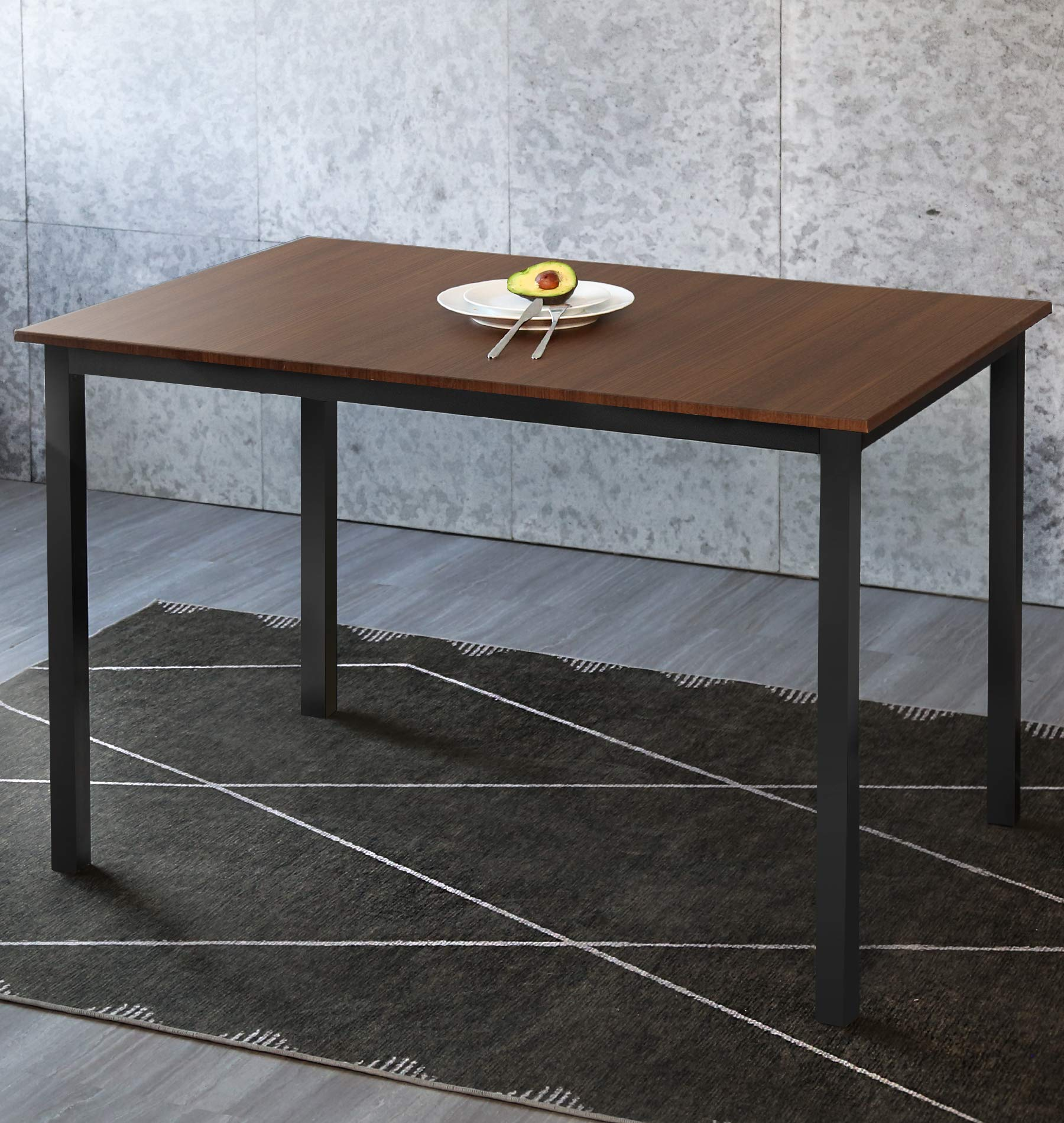 Dining Table Rectangular Kitchen Table Modern Table Desk Computer Desk Office Conference Desk Table,Brown(Table Only)