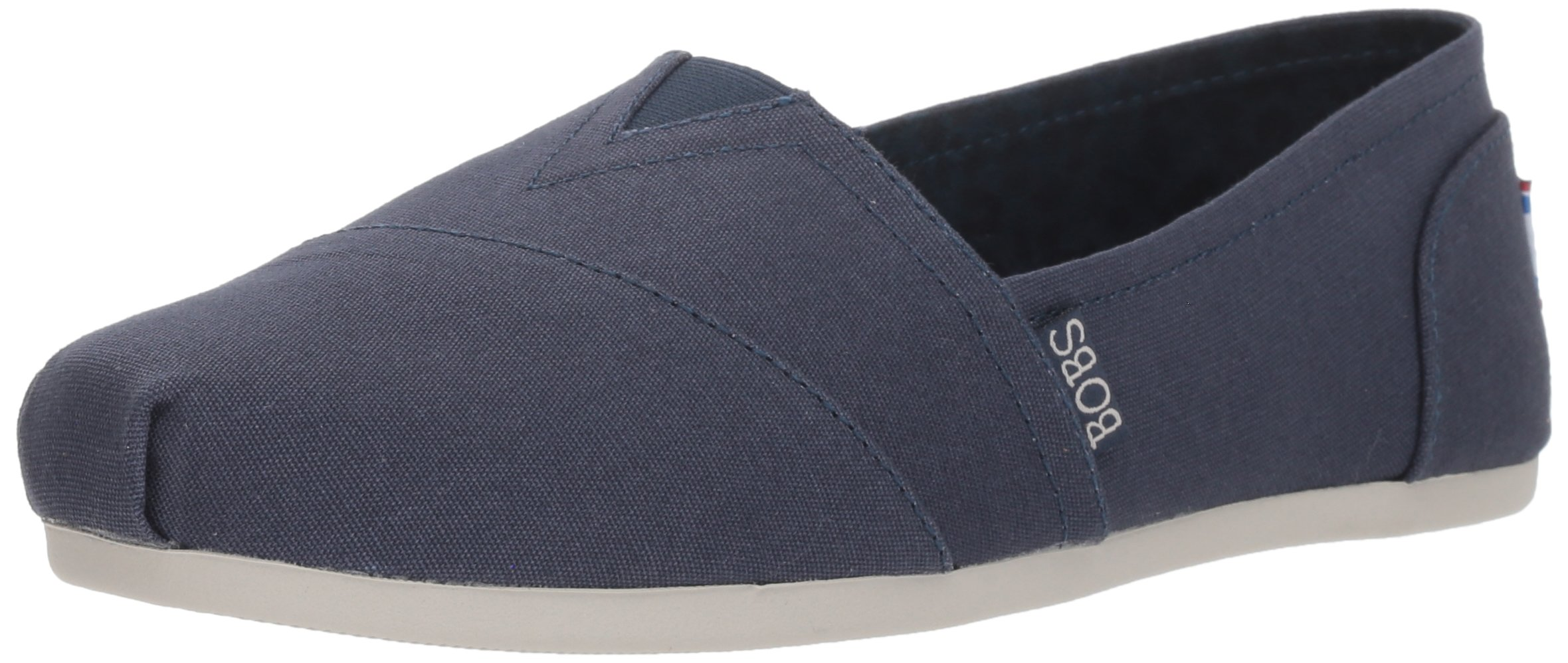 Skechers BOBS from Women's Bobs Plush-Peace and Love Ballet Flat, Dark Navy, 7.5 M US