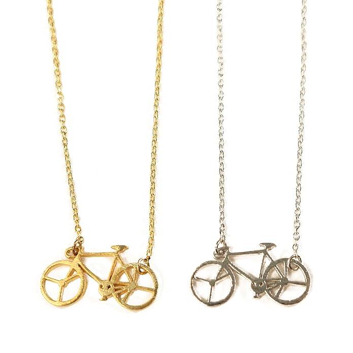 Amazon.com: Dainty bicicleta collar para mujer pequeño ...