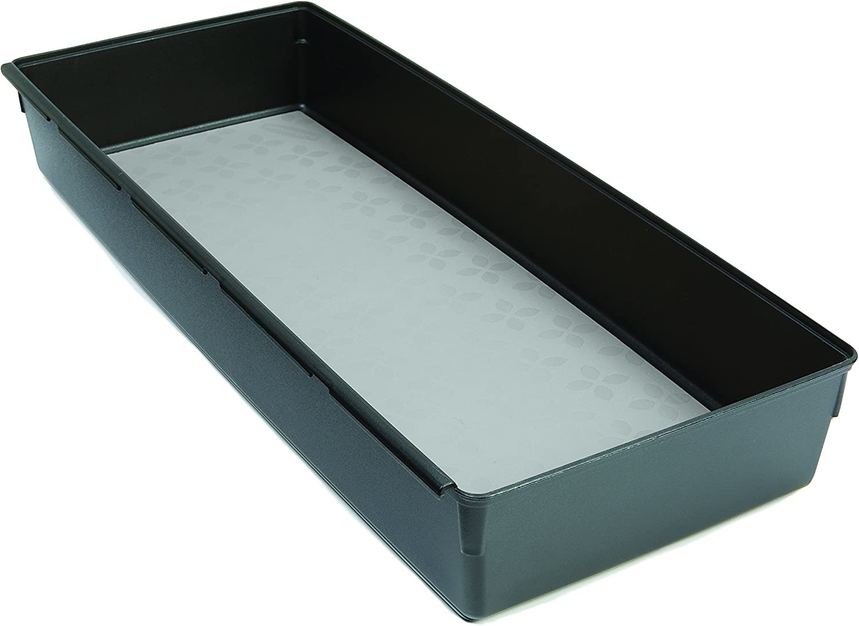 Black with Gray Base x 15-in 6-in Rubbermaid No-Slip Interlocking Drawer Organizer 1994535