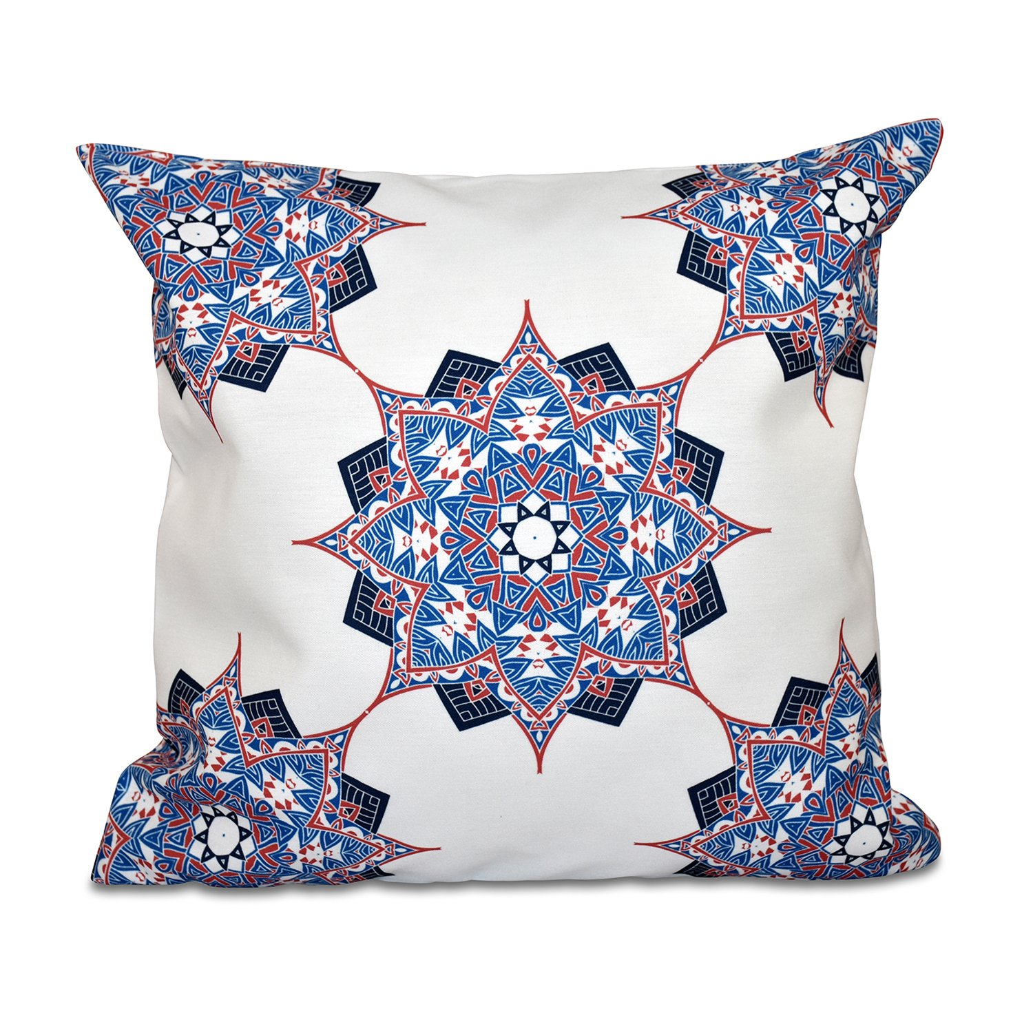 E by design O5PGN553BL40BL14-16 Printed Outdoor Pillow
