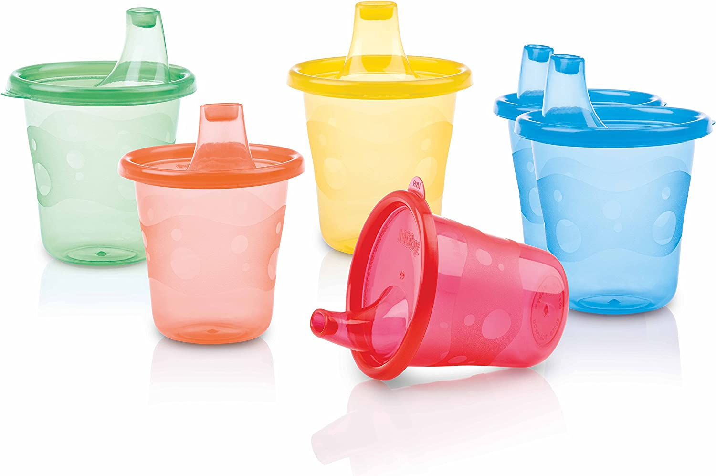 Nuby ID91121 - Vaso boquilla, colores surtidos (pack x 6)