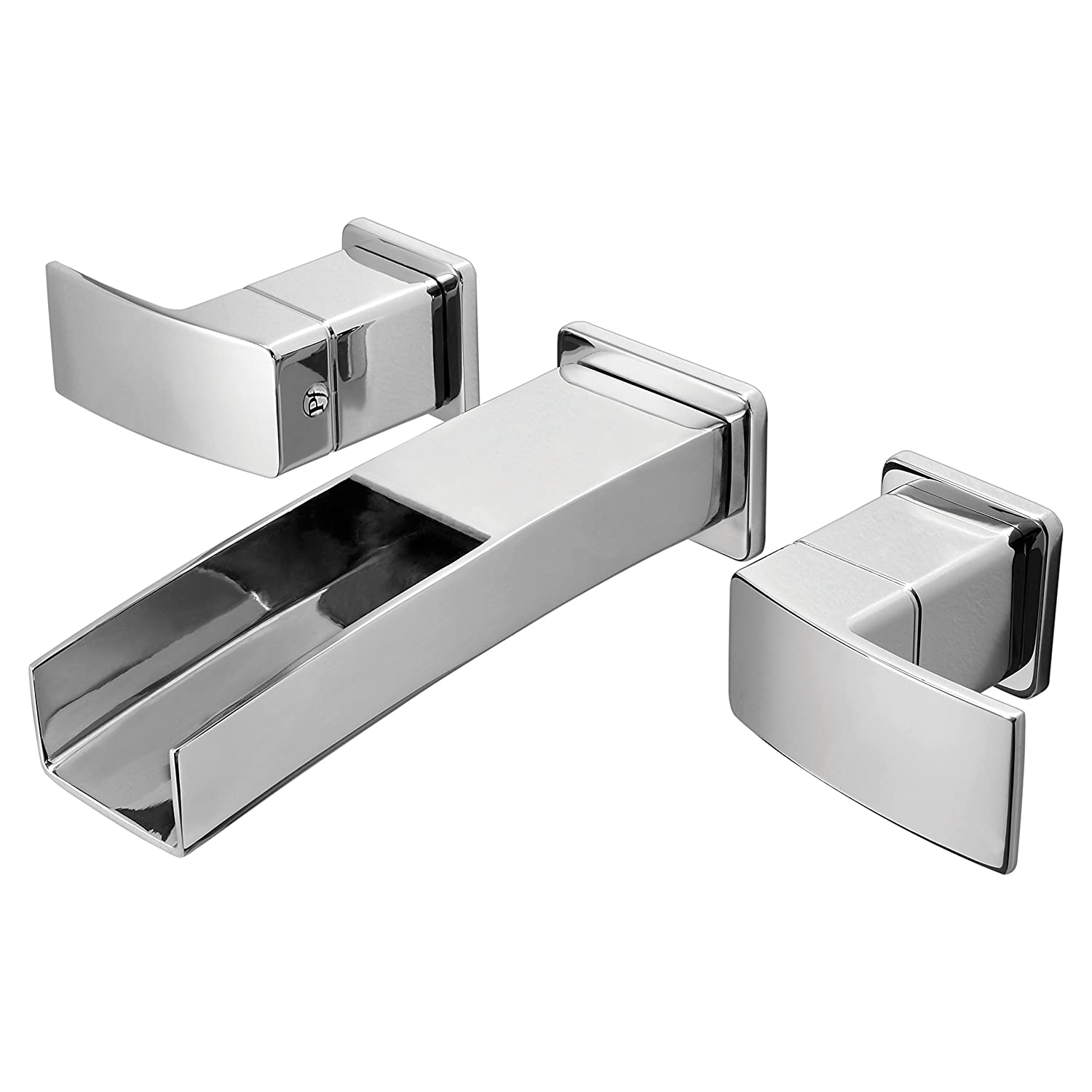 Waterfall wall mount bathroom faucet - Pfister Gt49df1c Kenzo 2 Handle Waterfall Wall Mount Waterfall Bathroom Faucet In Polished Chrome Touch On Bathroom Sink Faucets Amazon Com