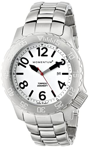 Men s Sports Watch Torpedo Dive Watch by Momentum Stainless Steel Watches for Men Analog Watch with Japanese Movement Water Resistant 200M 660FT Classic Watch – Lume 1M-DV74L0