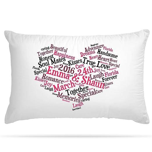 Shopsharks Funda de cojín personalizable, diseño de corazón ...