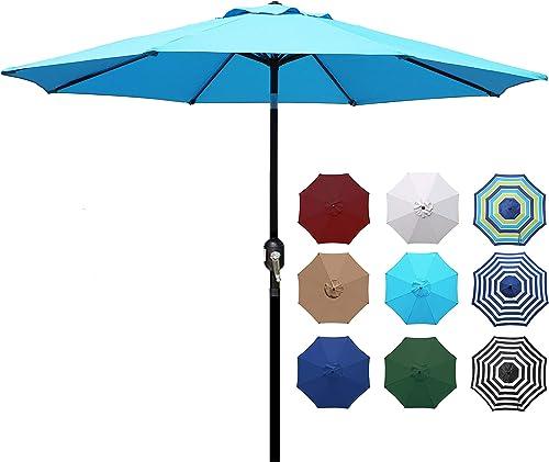 Blissun 9' Outdoor Aluminum Patio Umbrella