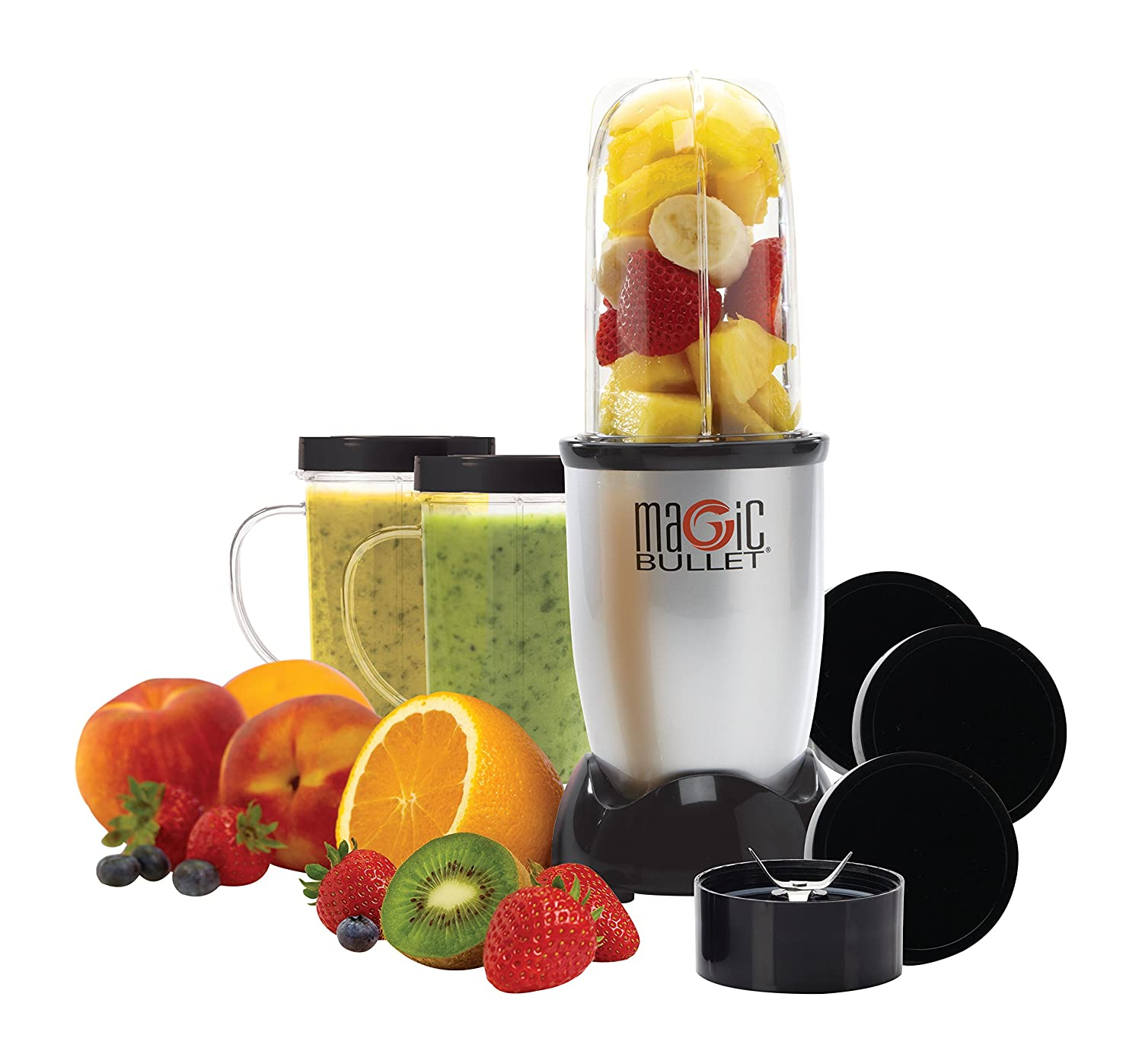 Magic Bullet (Silver) Blender/Mixer, 11-piece Set (Certified Refurbished) RMBR-1101