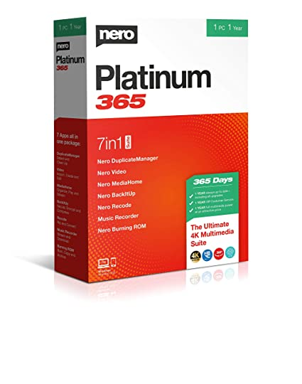 Nero Platinum 2020 Review.Nero Platinum 365 Standard 1 1 Year Always Up To Date Including All Upgrades Pc Disc