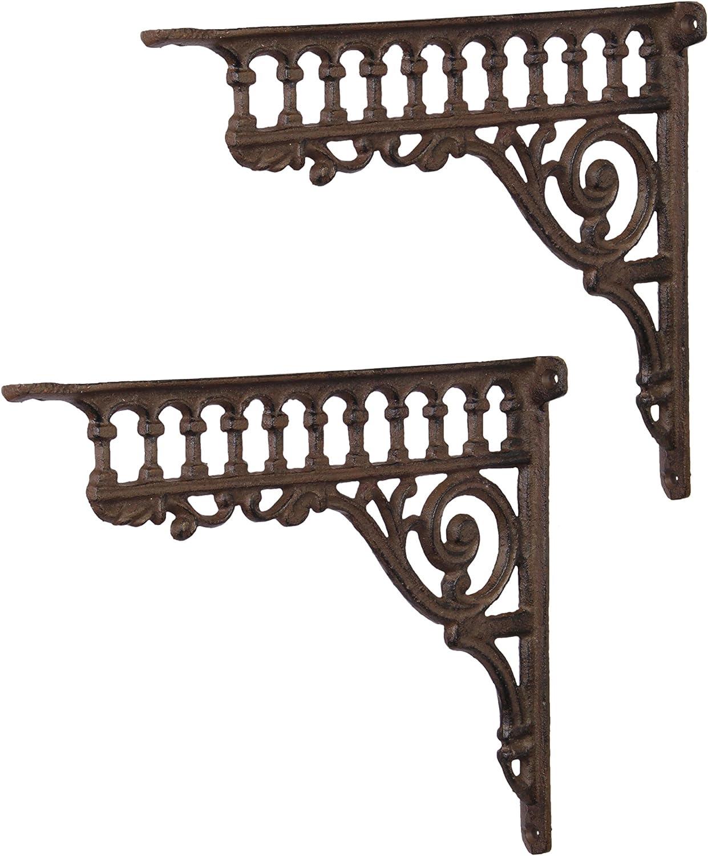 Ángulo de ángulo de pared Soporte de pared estante para estantes Juego Hierro Fundido Andalucia Antiguo Estilo Moritz®