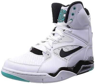 NIKE Men's Air Command Force White/Black/Wolf Grey/Hypr JD Basketball Shoe