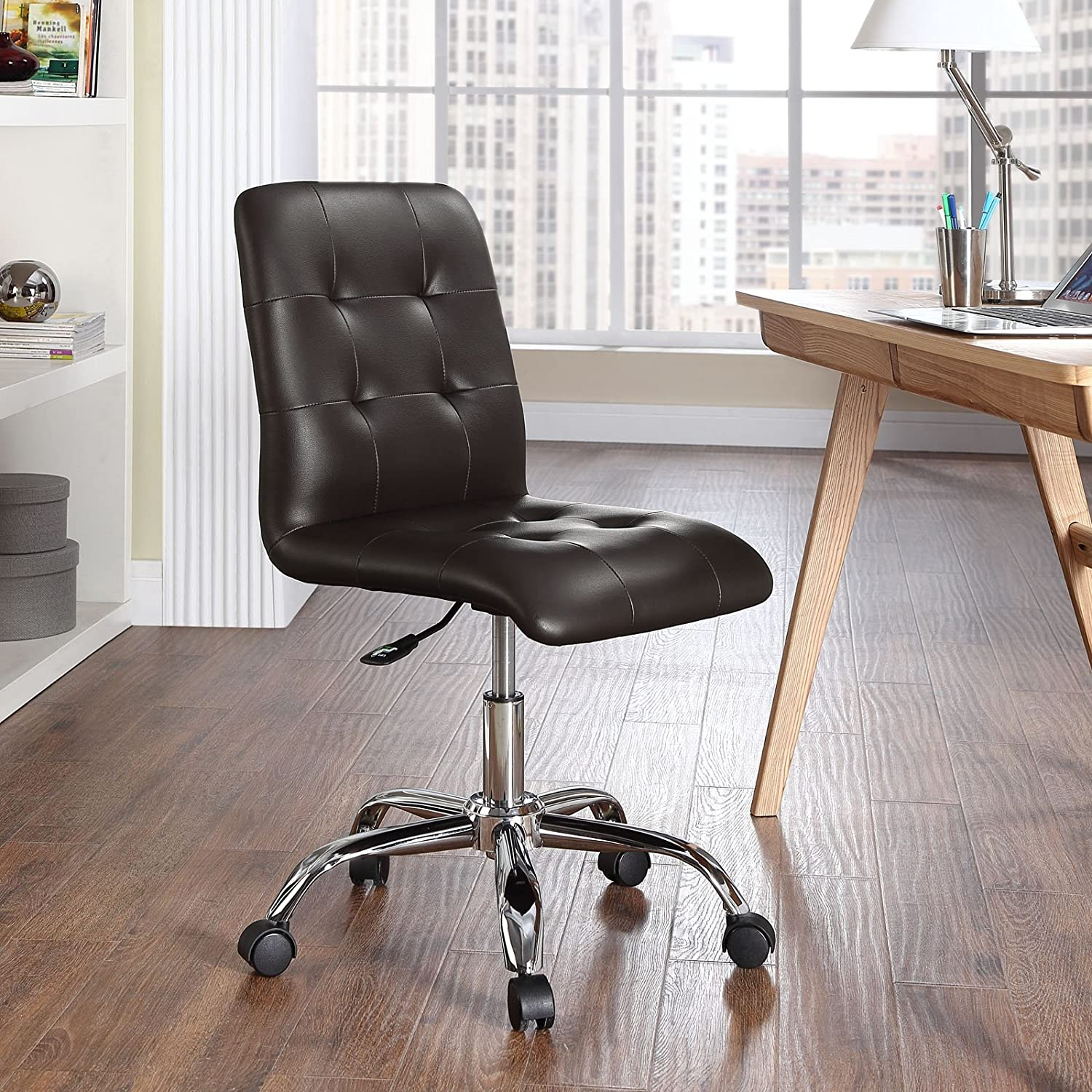 Amazon Modway Prim Mid Back fice Chair Brown Kitchen & Dining