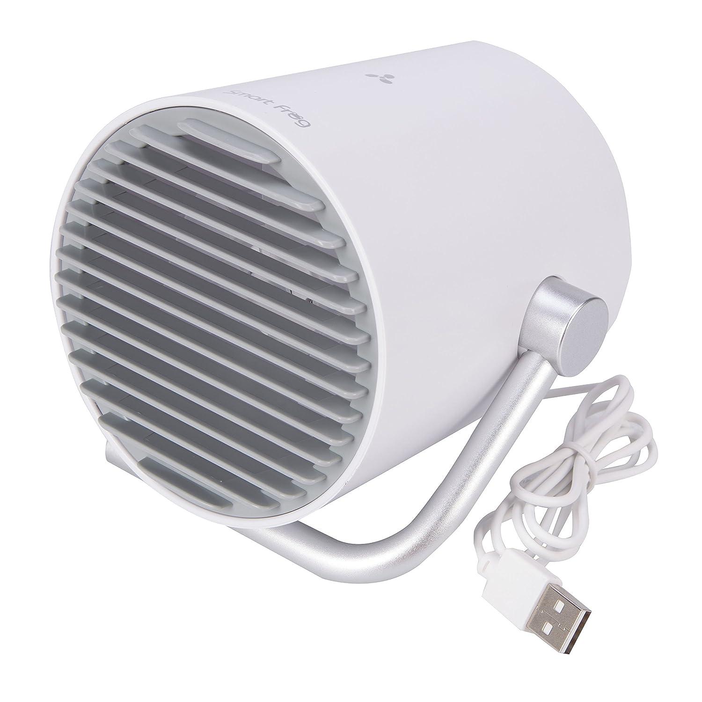 Topgio Mini Ajustable Ventilador Portátil USB Recargables Refrigeración Doble Cuchillas para PC