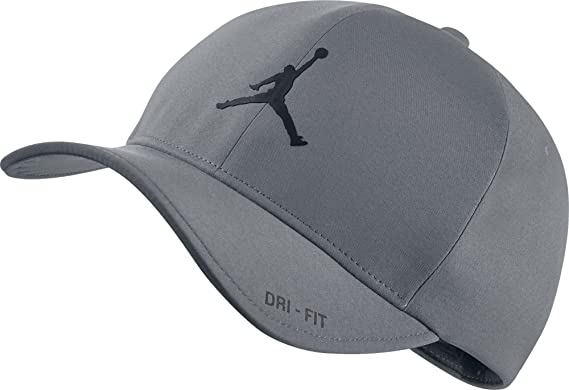 812e3b6d96537f NIKE Mens Air Jordan Classic 99 Fitted dad Hat Cool Grey Black 801767-065
