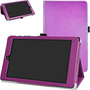 """DigiLand DL8006 Case,Mama Mouth PU Leather Folio 2-Folding Stand Cover for 8.0"""" DigiLand DL8006 Android Tablet,Purple"""