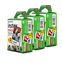 Fujifilm Instax Mini Film, Multi-Pack White (3 x 2pk, 60 shots total)