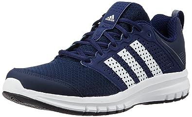 adidas Men's Madoru 11 M Blue, White and Dark Blue Mesh Running Shoes - 8