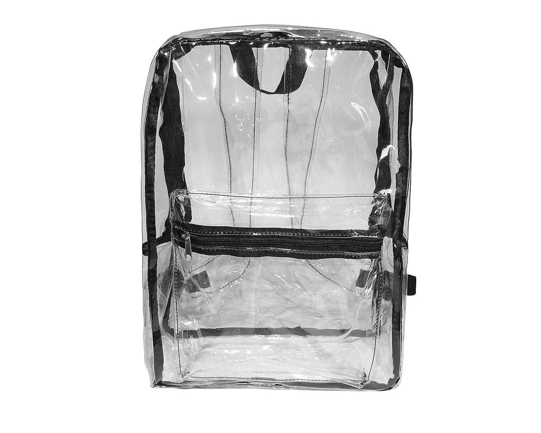 Sencilla mochila transparente de forma cuadrada.