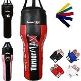 TurnerMAX Heavy Duty Boxing Uppercut Angled Filled Punch Bag Boxing Training MMA