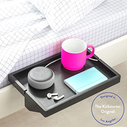 Amazon.com: BedShelfie, mesa de noche minimalista, Espresso ...