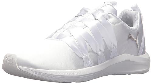 PUMA Women's Prowl Alt Satin Wn Sneaker, White, 6 M US