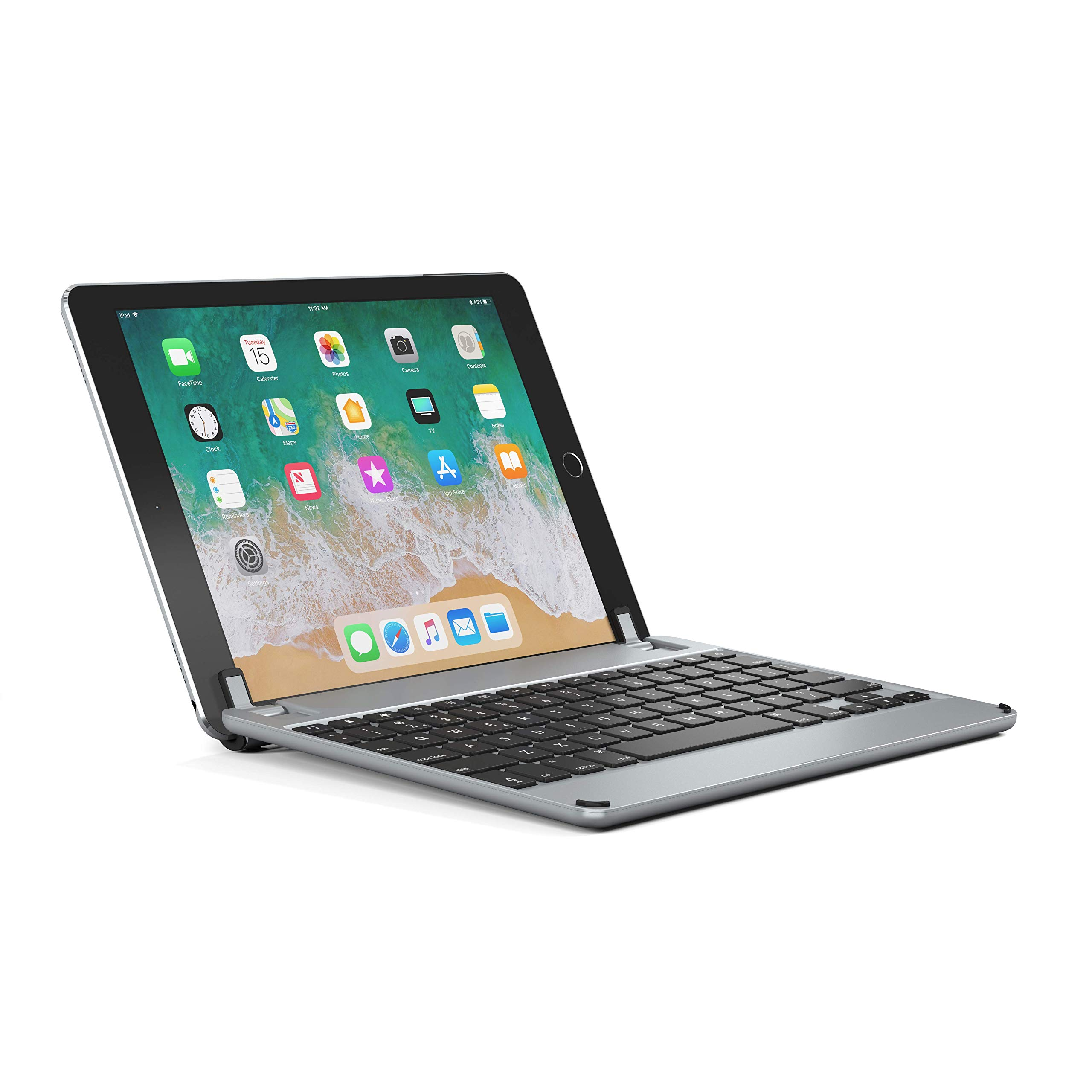 Brydge 9.7 Keyboard for iPad 9.7-inch, Aluminum Bluetooth Keyboard for iPad 6th Gen (2018), iPad 5th Gen (2017), iPad Pro 9.7 inch, iPad Air 1 and Air 2 (Space Gray)