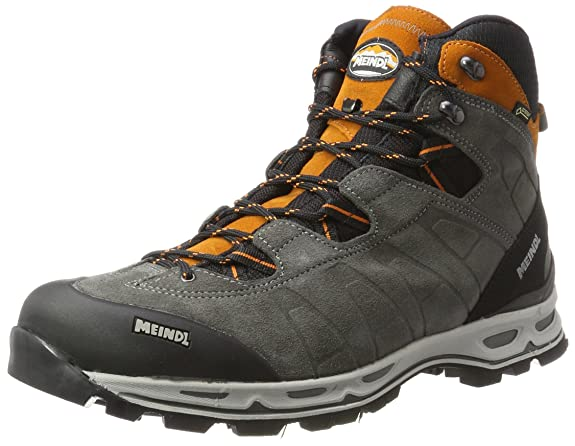 Meindl Air Revolution, Scarpe da Arrampicata Alta Uomo, Grigio (Anthrazit/Orange 31), 42.5 EU