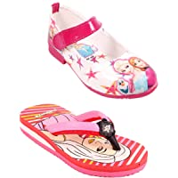 Rgk's Combo of Barbie Sisters Shoes Mary Jane Shoes Sandals Slippers Booties for Baby Girls of 3 Years | 4 Years | 5 Years | 6 Years | 7 Years | 8 Years | 9 Years