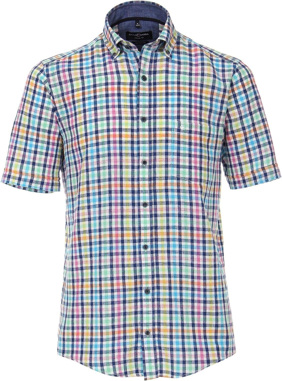 CASA MODA Multi Colour Check Linen/Wool Shirt Breast Pocket Sizes XXL to 7XL: Amazon.es: Ropa y accesorios