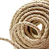 Naler 25M Hemp Rope 6mm, 100% Natural Jute 4-ply Thick Twine String Cord Rope for Boating, Animal Scratch Pole, DIY & Arts Crafts, Gift Packing, Gardening and Floristry