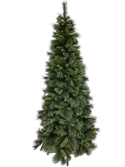 Albero Di Natale Slim 210.Il Brico Albero Di Natale Slim Lapponia Cm 210 Albero Natalizio