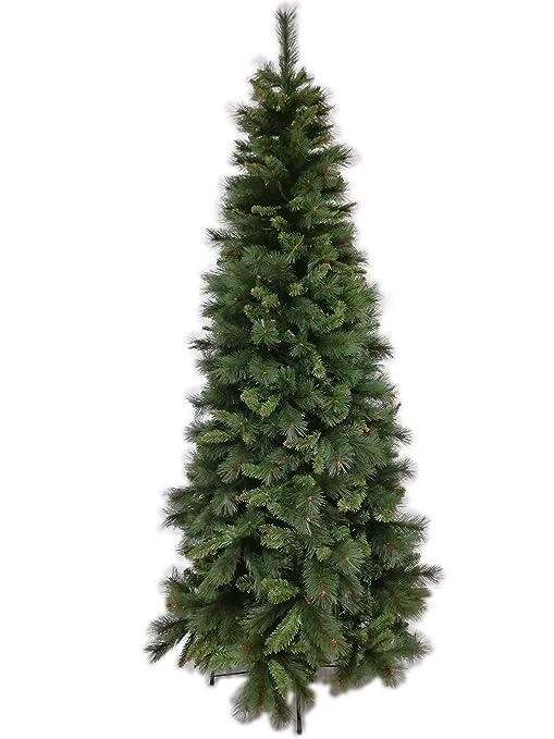 Albero Di Natale Stretto.Il Brico Albero Di Natale Slim Lapponia Cm 210 Albero Natalizio Folto Salvaspazio