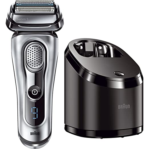 Braun Series 9 9090cc Electric Shaver with Cleaning Center, Top Men's Electric Razor, Best Men's Electric Shaver