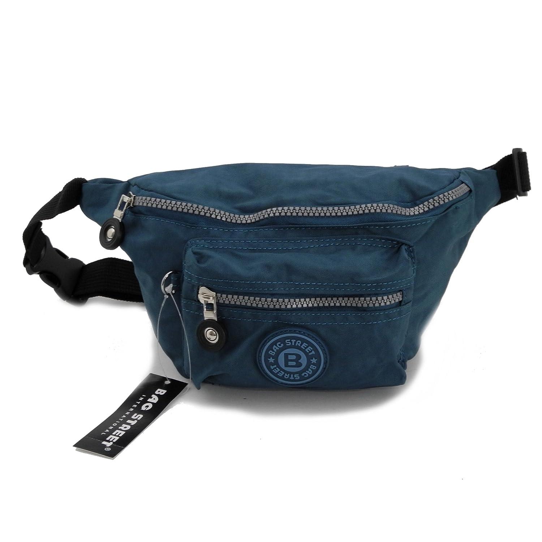 Bag Street Gürtel Tasche Hüfttasche Bauchtasche Nylon präsentiert von ZMOKA® in versch. Farben ... (Türkis Blau)