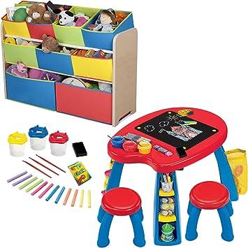 Amazon Com Delta Children Multi Color Deluxe Toy Organizer With